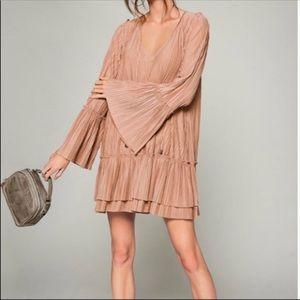 Free People Pink Clay Can't Help It Mini Dress